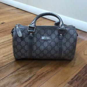 Gucci GG Supreme Boston Canvas Bag (Small)